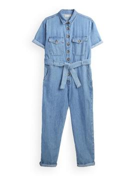 Blue Belted Boilersuit by Primark