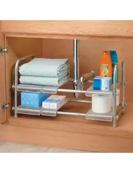 I Design® Cabrini Under Sink Organizer Shelf In Silver by Bed Bath And Beyond