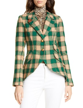Plaid Wool Hunting Jacket by Smythe