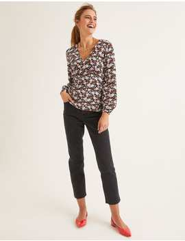 Viola Top   Black, Romantic Bloom by Boden