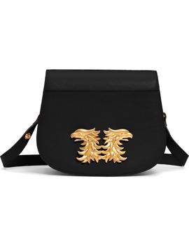 Maison Gryphon Leather Saddle Bag by Valentino Garavani