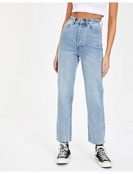 High Waist Straight Leg Jean by Glassons