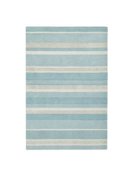 John Lewis & Partners Amelia Stripe Rug, Duck Egg by John Lewis & Partners