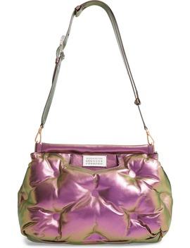 Medium Glam Slam Metallic Faux Leather Convertible Shoulder Bag by Maison Margiela
