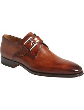 Marco Plain Toe Monk Shoe by Magnanni