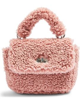Faux Shearling Shoulder Bag by Topshop