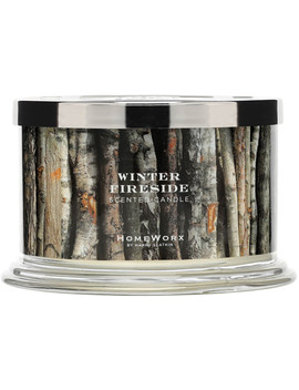 Winter Fireside 4 Wick Candle by Home Worx