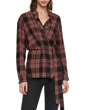 Miki Plaid Wrap Shirt by Allsaints
