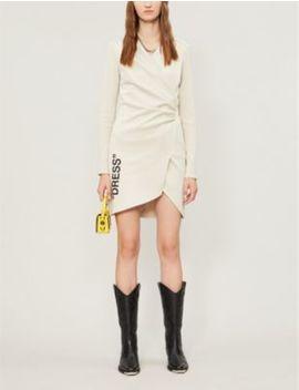 Fitted V Neck Side Split Mini Dress by Off White C/O Virgil Abloh