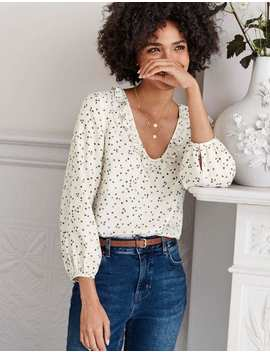 Marina Blouse   Ivory, Sweet Flower by Boden