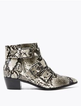 Multi Buckle Ankle Boots by Marks & Spencer
