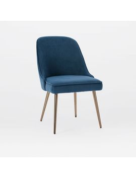 Mid Century Upholstered Dining Chair   Metal by West Elm