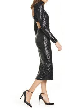 Daniela Cutout Long Sleeve Sequin Dress by Cinq À Sept