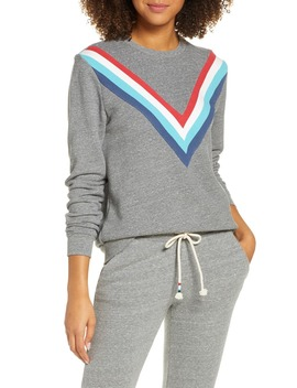 Chevron Stripe Sweatshirt by Sol Angeles