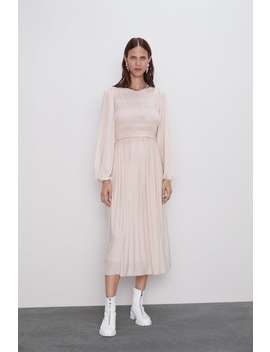 LuŹna Sukienka Z Gumkami by Zara