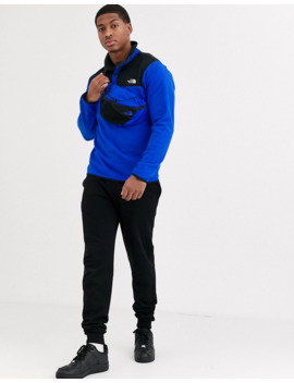 The North Face Tka Glacier Snap Fleece In Blue by The North Face
