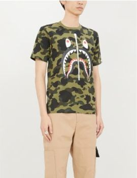 1st Camo Graphic Print Cotton Jersey T Shirt by A Bathing Ape