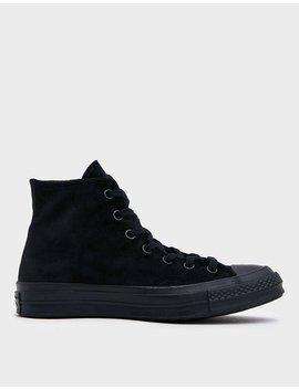 Chuck 70 Hi Velvet Sneaker In Black by Converse Converse