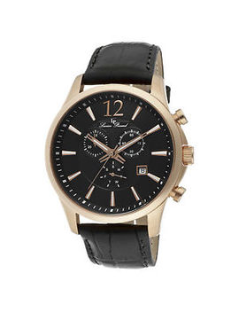 Lucien Piccard 11567 Rg 01 Black Genuine Leather And Dial Men's Quartz Watch by Ebay Seller