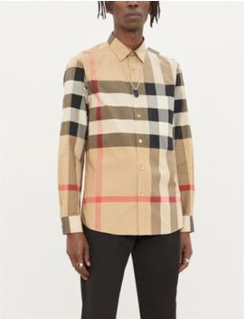 Somerton Checked Regular Fit Stretch Cotton Shirt by Burberry