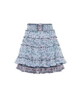 Amora Floral Cotton Miniskirt by Poupette St Barth