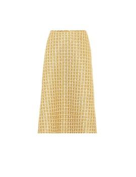 Wool Blend Tweed Midi Skirt by Balenciaga