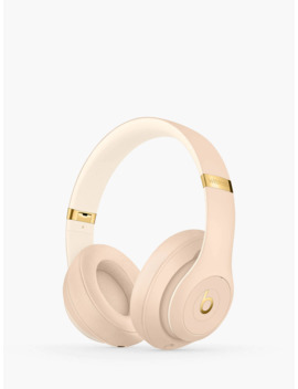 Beats Studio³ Wireless Bluetooth Over Ear Headphones With Pure Adaptive Noise Cancelling & Mic/Remote, Skyline Collection, Desert Sand by Beats