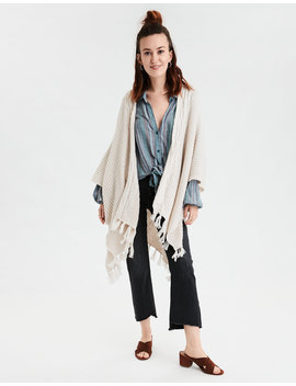 Aeo Cable Knit Midi Kimono by American Eagle Outfitters