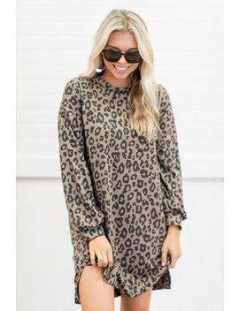 Feline Fine Brown Leopard Dress by The Mint Julep Boutique