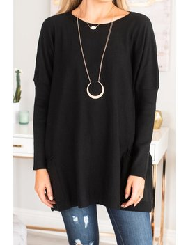 Endless Love Black Sweater Tunic by The Mint Julep Boutique