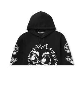 Monster Rally Printed Loopback Cotton Jersey Hoodie by Mc Q Alexander Mc Queen