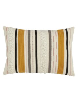 Warrnambool Corded Boucle Yarn Appliqué Down Filled Throw Pillow by Joss & Main