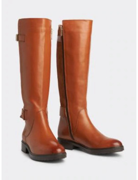 Suede Panel Long Boots by Tommy Hilfiger