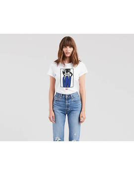 Gold Hoops Graphic Tee Shirt by Levi's