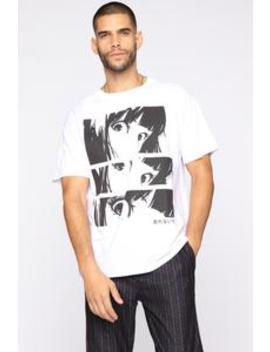 Never Afraid Short Sleeve Tee   White/Black by Fashion Nova