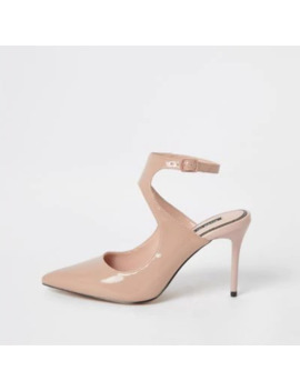 Light Pink Patent Cut Out Court Shoe by River Island