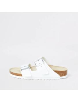Birkenstock Arizona White Two Strap Sandals by River Island