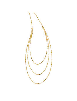 Womens 14 K Gold Strand Necklace by Fine Jewelry