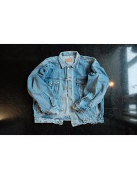 So Cool! Levis Denim Jacket, 90s Levis Crop Jacket (Size L) by Vintage  ×  Levi's  ×  Levi's Vintage Clothing  ×