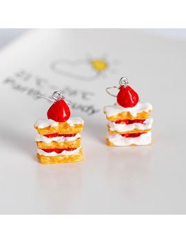 Strawberry Cake Earrings by Dog Dog