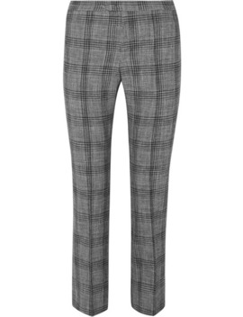 Derys Checked Cotton Blend Straight Leg Pants by Isabel Marant