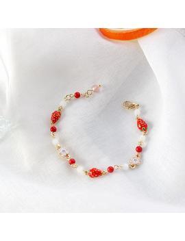 Strawberry Flower Bracelet by Dog Dog
