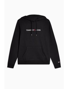 Clean Logo Hoodie By Tommy Jeans by Topshop