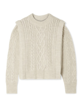 Tayle Cable Knit Wool Sweater by Isabel Marant Étoile