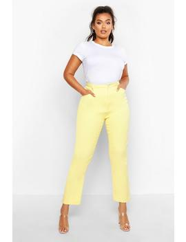 Plus Lemon Twill Mom Jean by Boohoo