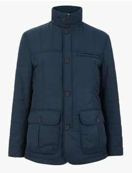 Funnel Neck Quilted Puffer Coat by Marks & Spencer