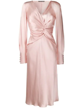 Drape Style Midi Dress by Alberta Ferretti