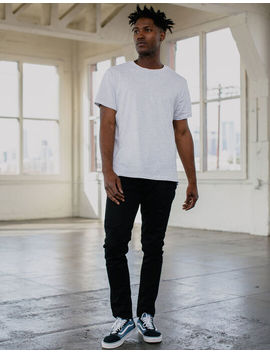 Rsq Toronto Slim Taper Black Mens Ripped Jeans by Rsq