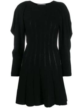 Ruffle Sleeve Knitted Dress by Alberta Ferretti