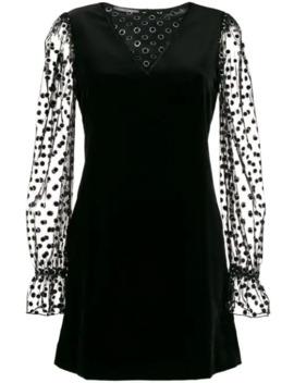 Fabric Mix Short Dress by Alberta Ferretti